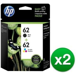 HP 62 Black & Tri-Color Original 2 Ink Cartridges (N9H64FN)(2-Pack)