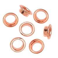 Copper Plated Round Grommets - Fits 4mm Bead Holes (100)