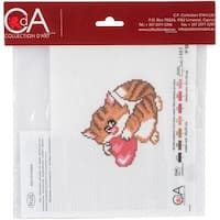 Collection D'art Stamped Cross Stitch Kit 20X22cm-Meow