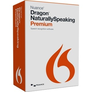 Nuance K609A-G00-13.0 Nuance Dragon NaturallySpeaking v.13.0 Premium - 1 User - Voice Recognition Box Retail - DVD-ROM - PC -