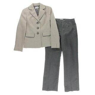 Le Suit Womens 2PC Metallic Pant Suit