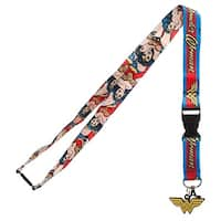 Bioworld DC Comics Wonder Woman Logo Charm Breakaway Lanyard - One Size Fits most