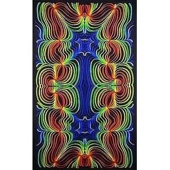 Handmade 100% Cotton 3D Rainbow Ripple Throw Tablecloth Bedspread Twin 60x90