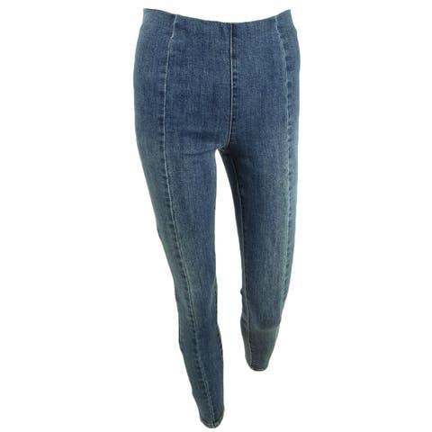 INC International Concepts Women's Petite Pull-On Skinny Jeans (0P, Indigo) - 0P