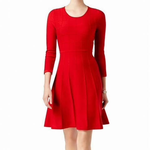 2affd31dd4 Jessica Howard Red Womens Size Small S Long Sleeve Sweater Dress