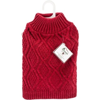 Red Extra Small - Fashion Pet Fisherman Sweater
