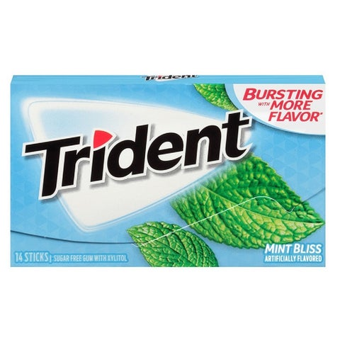 Trident Sugar Free Bubble Gum Artificially Flavored - 15 Pack - 15 pack