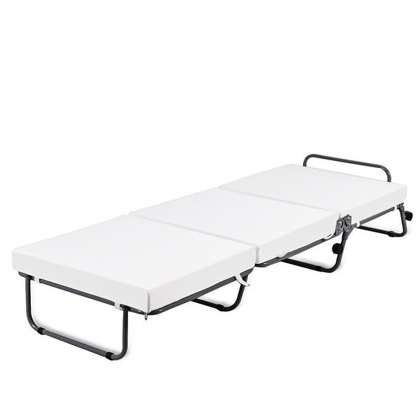 Folding Sofa Bed Sleeper: Shop Costway Folding Convertible Sofa Bed Ottoman Couch