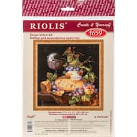 """Dutch Still Life Counted Cross Stitch Kit-11.75""""X11.75"""" 14 Count"""
