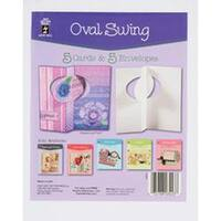 Oval Swing - Hot Off The Press Die-Cut Cards W/Envelopes 5/Pkg