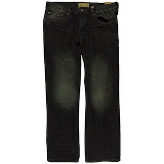 Link to Ecko Unltd. Mens Brief Encounter Washed Denim Relaxed Jeans, black, 28W x 32L Similar Items in Pants