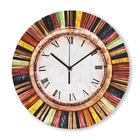 Handmade Clock Multicolor - 2 x 13 x 13