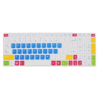 Laptop Blue White Silicone Keyboard Skin Cover Film for IdeaPad Z560 G570