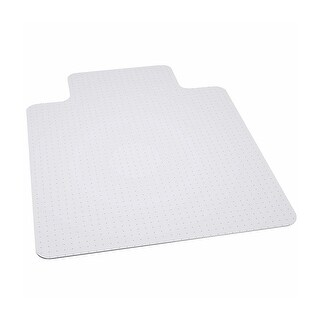 Offex 45'' x 53'' Big And Tall 400 lb. Capacity Carpet Chairmat with Lip [OF-MAT-124164-GG]