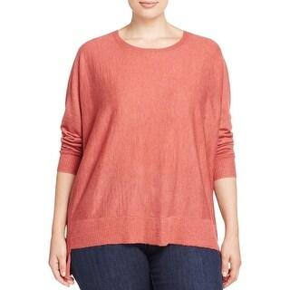Eileen Fisher Womens Plus Pullover Sweater Merino Wool Hi-Low Hem