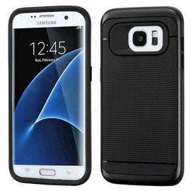 Insten Dual Layer Hybrid Rubberized Hard PC/ Silicone Case Cover For Samsung Galaxy S7 Edge