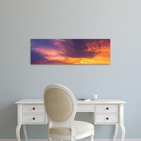 Easy Art Prints Panoramic Images's 'Clouds in the sky at sunset, Marion County, Illinois, USA' Premium Canvas Art