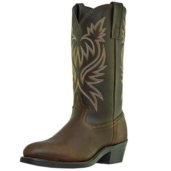 Laredo Western Boots Mens Paris Trucker Cowboy Copper Kettle