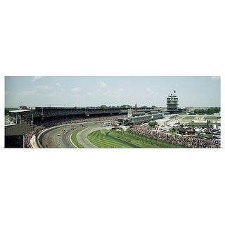 Panoramic Images Poster Print entitled Race cars in pace lap in Indianapolis Motor Speedway, Indianapolis 500, Indiana