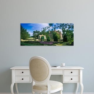 Easy Art Prints Panoramic Images's 'Formal garden, Groombridge Place Gardens, Manor House, Sussex, England' Canvas Art