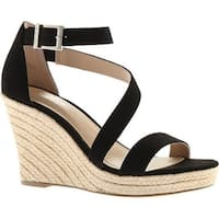 Charles by Charles David Women's Lou Wedge Sandal Black Microsuede