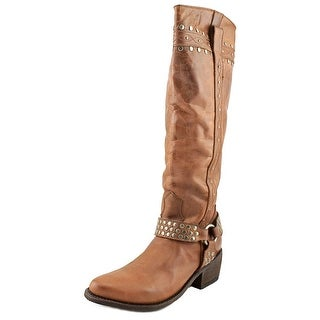 Independent Boot Company Ashton   Round Toe Leather  Western Boot