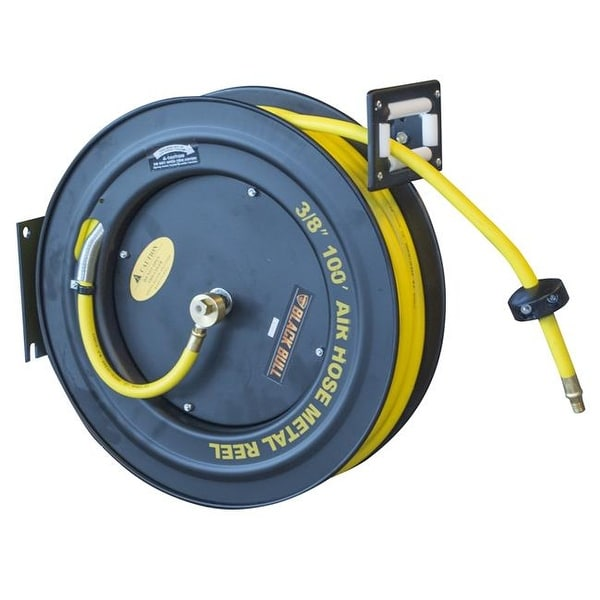 Shop Black Bull 100 Ft Bull Retractable Air Hose Reel With Auto Rewind Free Shipping Today Overstock Com 25261246