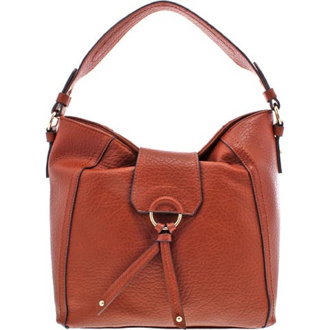 Jessica Simpson Womens Hayden Hobo Handbag Faux Leather Tassled - Large