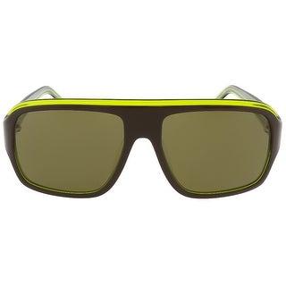 Lacoste L643S 210 Brown/Green Square sunglasses