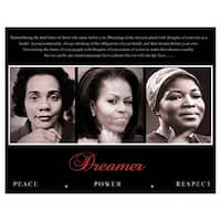 ''Dreamer (Trio): Peace, Power, Respect'' by Anon African American Art Print (8 x 10 in.)