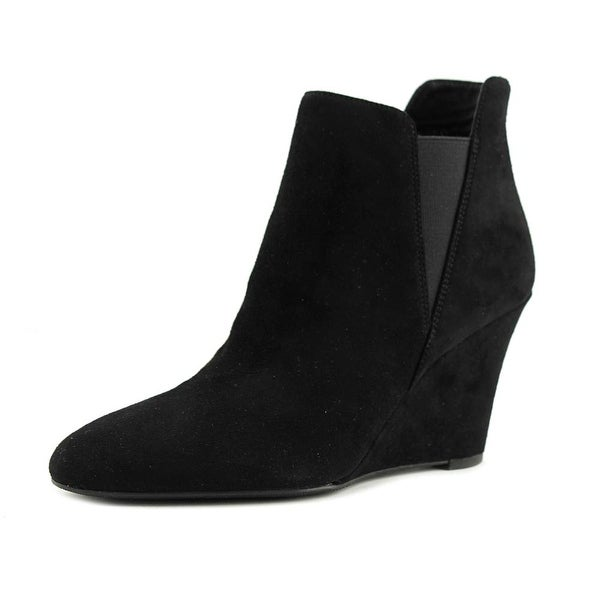 Via Spiga Kenzie Women Round Toe Suede Black Boot