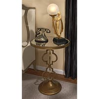 Design Toscano  Film Noir Art Deco Mirrored Accent Table