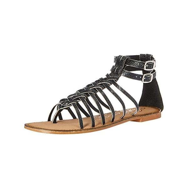 Naughty Monkey Womens Boardwalk Gladiator Sandals Distressed Leather