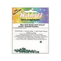 Kandi Swarovski Elements Crystal Pkg 4mm 24pc Emerald