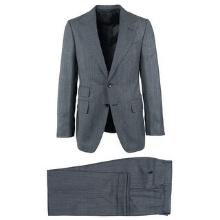 Tom Ford Mens Charcoal Grey Brown Wool Blend Shelton Suit - 38 r