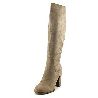 Madden Girl Klash Women Round Toe Canvas Brown Knee High Boot