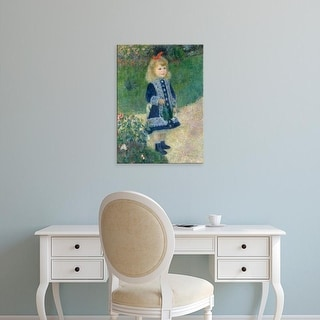 Easy Art Prints 's 'A Girl with a Watering Can, 1876' Premium Canvas Art