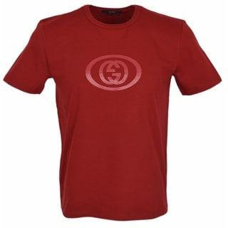 New Gucci Men's 295979 RED Jersey Cotton Interlocking GG SLIM FIT T Shirt XXL