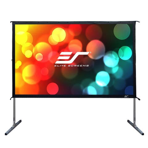 "Elite Screens OMS110H2 Yard Master 2 110"" CineWhite Outdoor Movie Screen"