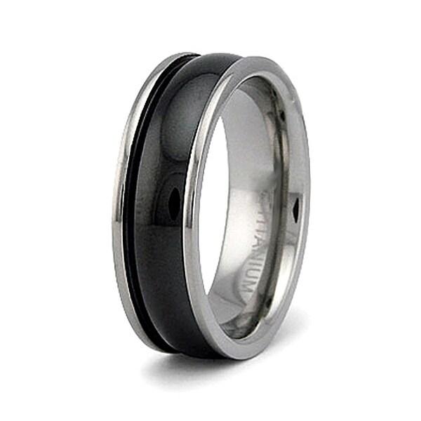 7mm Black Titanium Ring (Sizes 8-12)