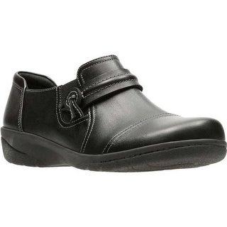 Clarks Women's Cheyn Madi Monkstrap Black Full Grain Smooth Leather