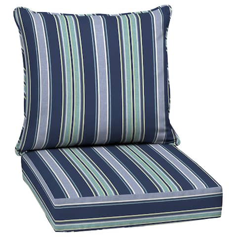 Arden Selections Sapphire Aurora Stripe Deep Seat Cushion Set - 24 W x 24 D in.