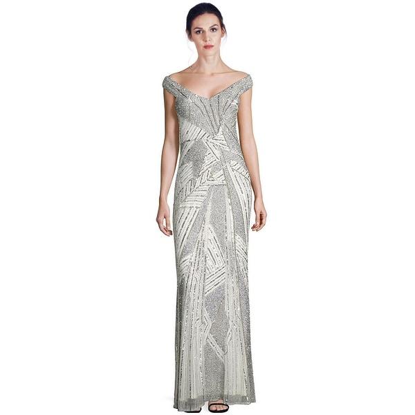 2de7500d68 Parker Black Lynn Sequined Off Shoulder Evening Gown Dress White - 4