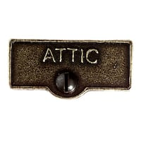 Switch Plate Tags ATTIC Name Signs Labels Cast Brass