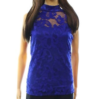 INC NEW Blue Goddess Women's Size Large L Lace Mock Neck Tank Blouse|https://ak1.ostkcdn.com/images/products/is/images/direct/78bf10dbfd59dd9c58d5ae33f4e804d77a55c9ca/INC-NEW-Blue-Goddess-Women%27s-Size-Large-L-Lace-Mock-Neck-Tank-Blouse.jpg?impolicy=medium