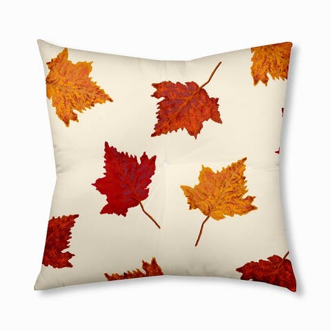 Dancing Leaves Design Tufted Floor Pillow