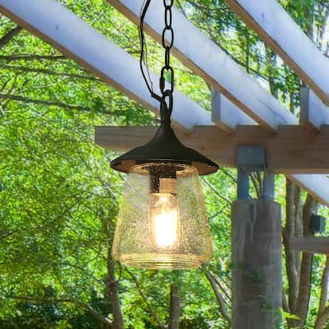 "The Gray Barn Dairy Air 1-light Outdoor Pendant Hanging Porch-light - D6.25""xH9.4"""
