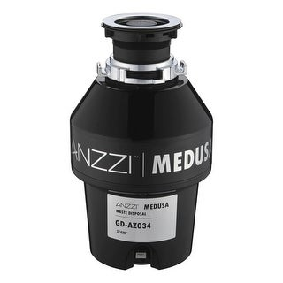Anzzi GD-AZ034 Medusa 3/4 HP Continuous Garbage Disposal - Power Cord Included