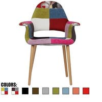 2xhome - Fabric Mid-Century Modern Accent Chairs Natural Leg in (Ann) - N/A