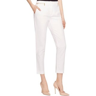 Calvin Klein Womens Dress Pants Zip Detail Faux Pockets